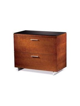 BDI BDI Sequel 6016 CH, Two Drawer Locking Lateral File Cabinet, Natural Stained Cherry