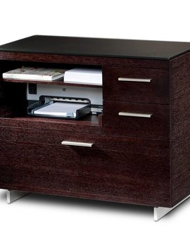 BDI BDI Sequel 6017 ES, Multifunction Cabinet with Two Storage Drawers & Pull-out Printer Tray, Espresso Stained Oak