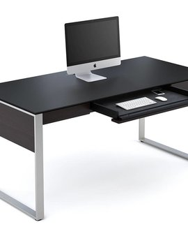 BDI Sequel 6021ES, Executive Desk, Espresso Stained Oak