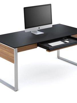 BDI Sequel 6021WL, Executive Desk, Natural Walnut