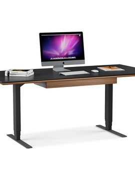 BDI Sequel Lift Desk 6052, Natural Walnut