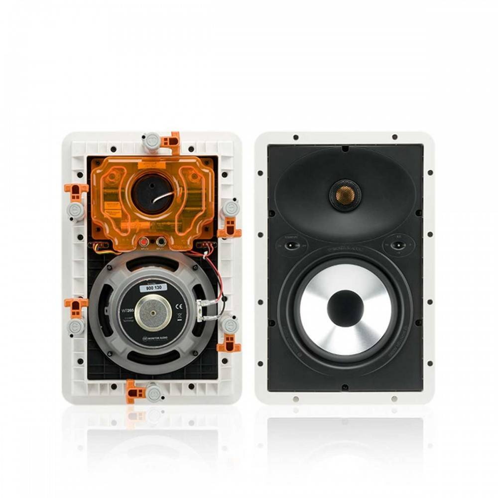 "Monitor Audio WT280 2-way 8"" Trim-less Full Range In-Wall Speaker"
