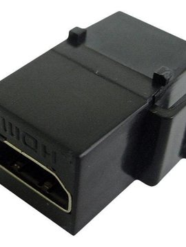 Calrad HDMI Keystone Feed-thru, 1080P, Black