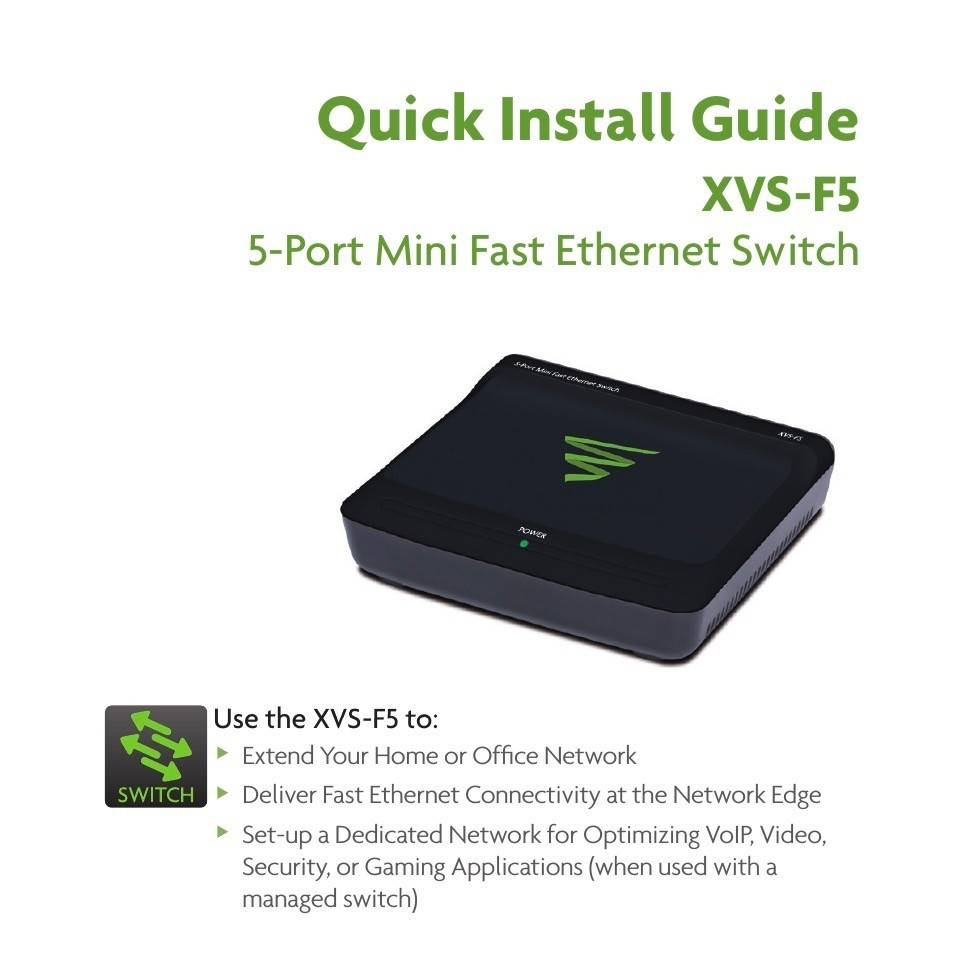 Luxul XVS-F 5-Port Mini Fast Ethernet Switch, XVS-F5