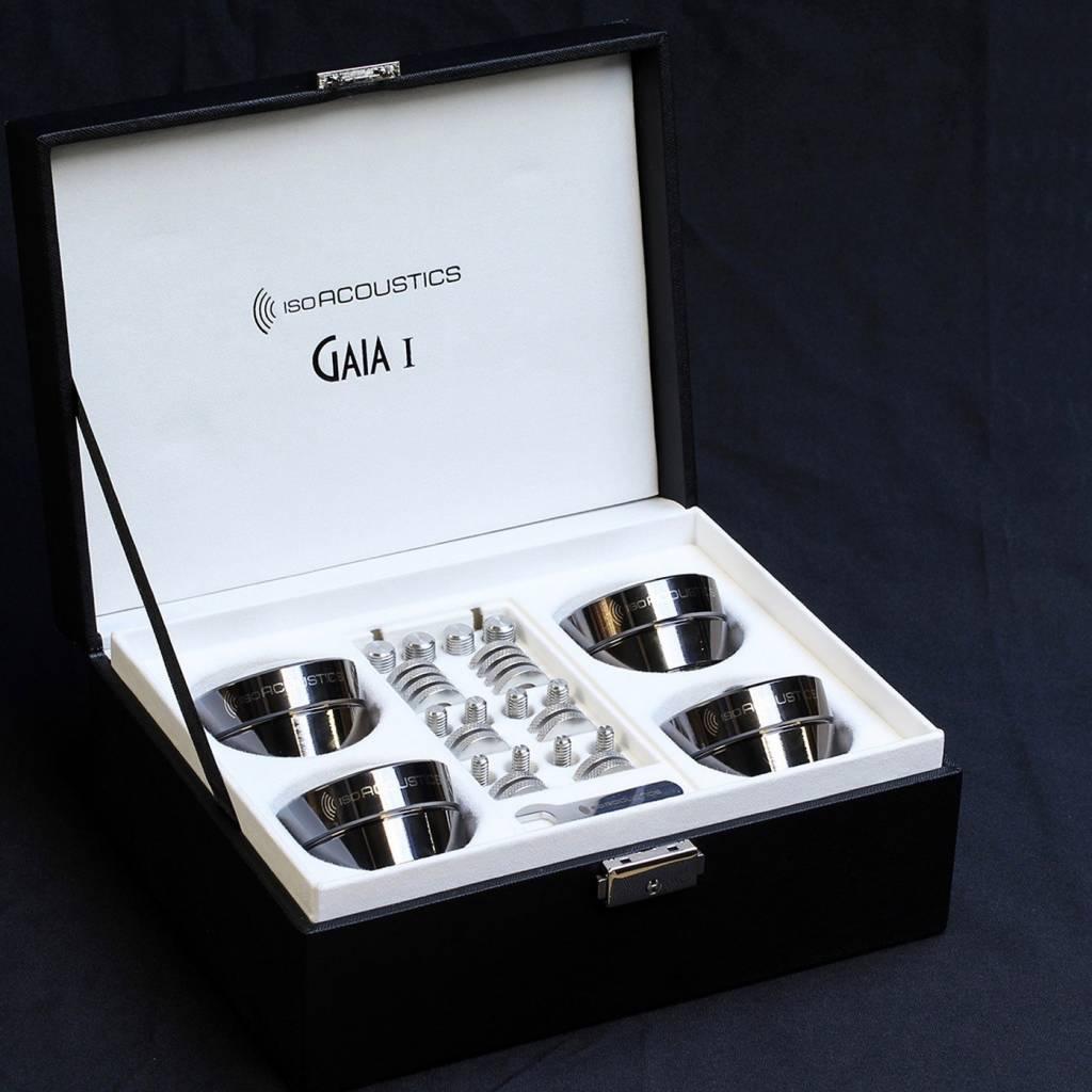 IsoAcoustics GAIA I Speaker Isolators ( 4 Pack ) Dark Chrome