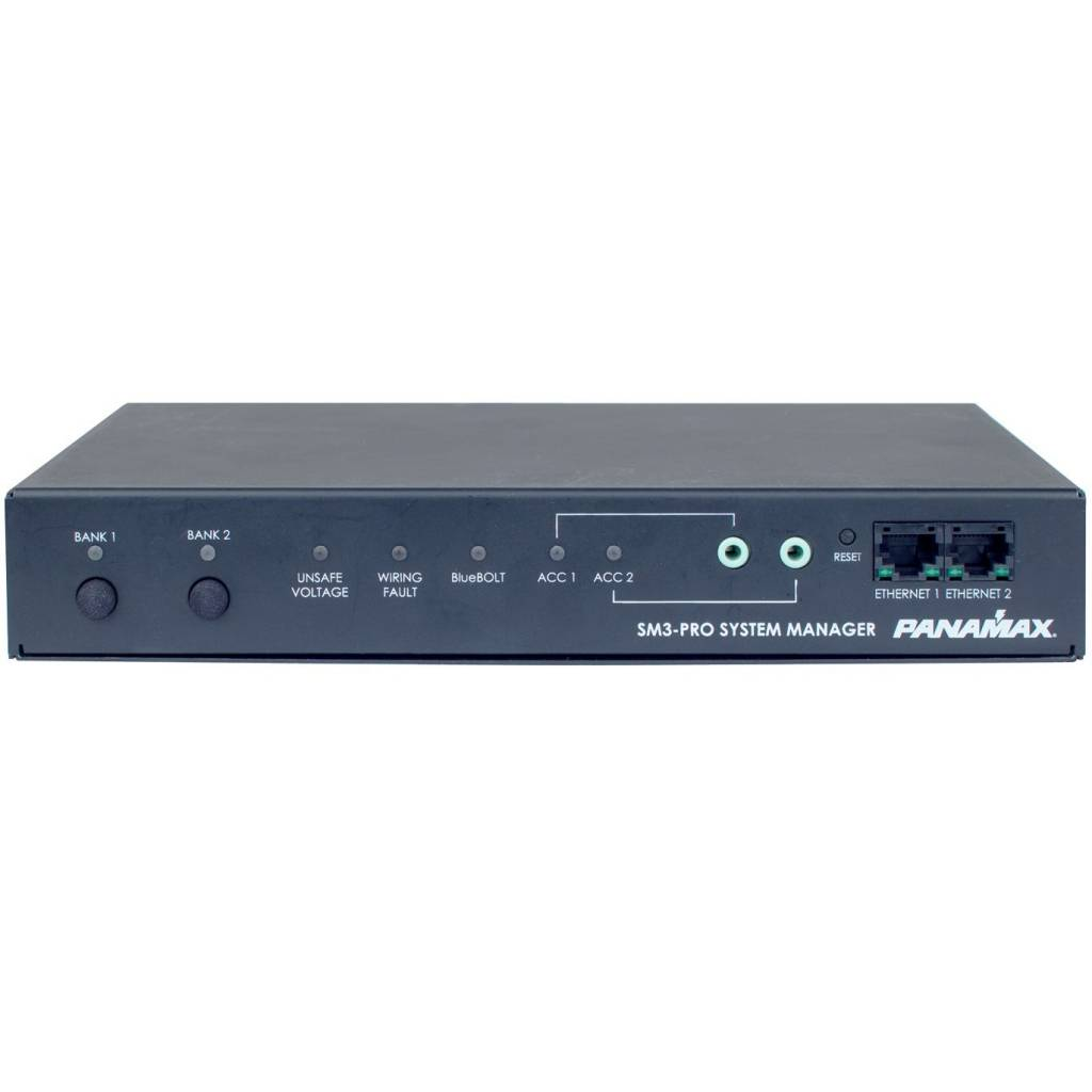 Panamax SM3-PRO System Manager, 3 Outlets, Bluebolt - Audio Visual ...