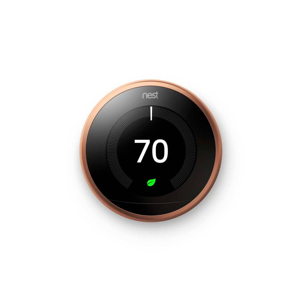 Nest learning thermostat copper audio visual solutions - Nest learning thermostat ...