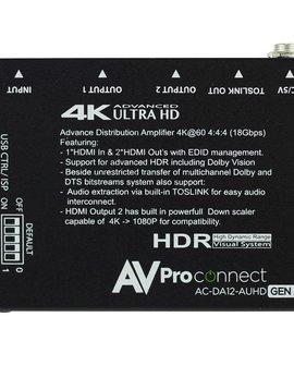 AV Proedge 4K 1 x 2 AUHD HDMI Distribution Amplifier