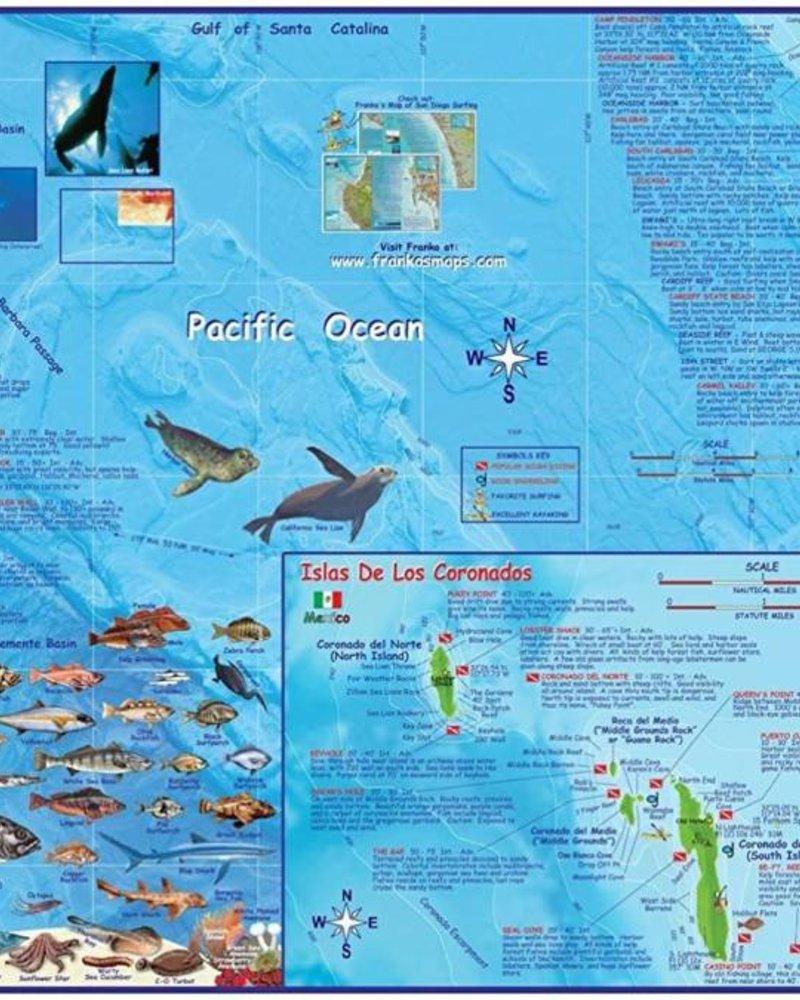 Franko's Maps Franko's SD County Coast Map