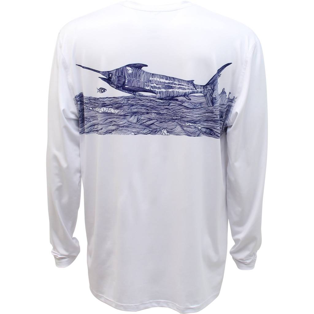 Marlin Linocut L/S Performance