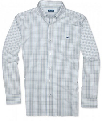 Parks Grove Check Flatwater Buttondown