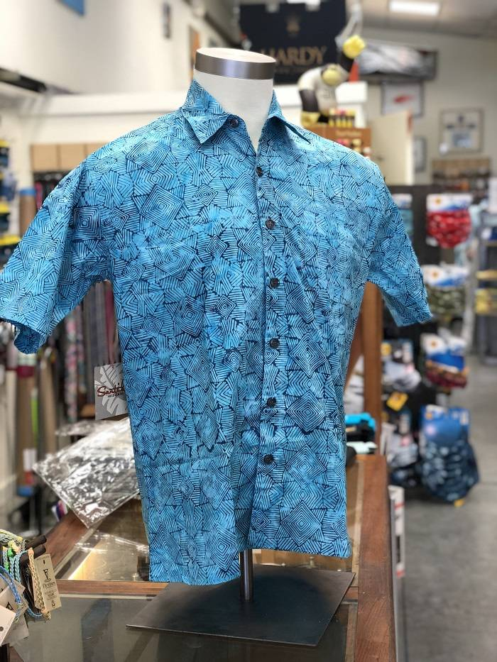 Fiji Shirt - Aqua Indo Lines