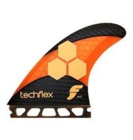 Fututres AM2 Techflex 5 Fin Set<br />Fluro Orange Large