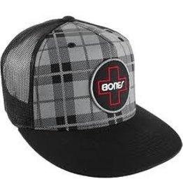 Skate Bones Plaid Swiss Circle Trucker Hat