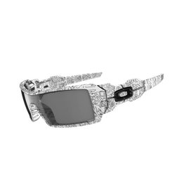 Oakley Oakley Oil Rig White With Text Frame Gray Lens Sunglasses 03-461