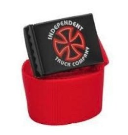 Skate Independent Bauhaus Cross Web Belt Red
