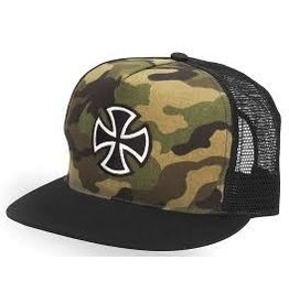 Skate Independent Outline Cross Trucker Hat Camo/Black