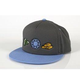 Skate Money, Stones & Gold True Story Hat Grey/Light Blue