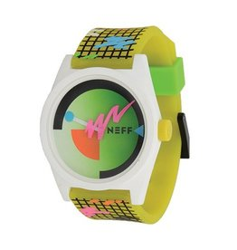Neff CUSTOM DESIGNED NEFF WATCH WITH ABS CASE AND PU STRAP WATER RESISTANT TO 165 FEET.