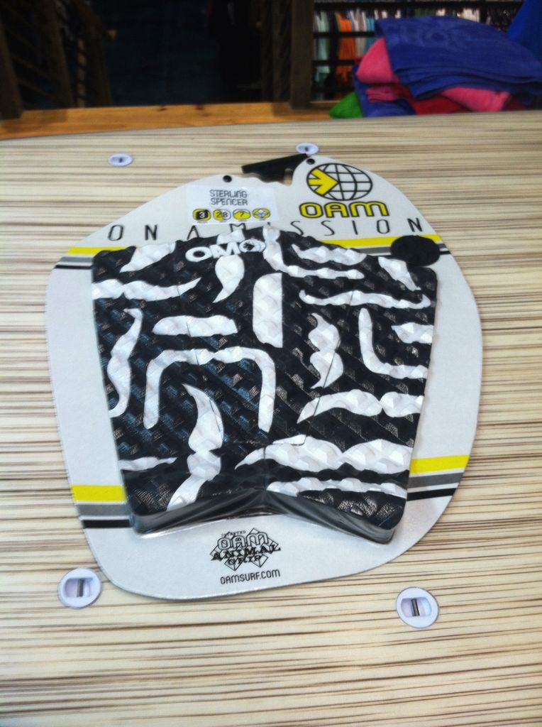 On a Mission OAM Sterling Spencer Stache Black White Surfboard Traction Pad
