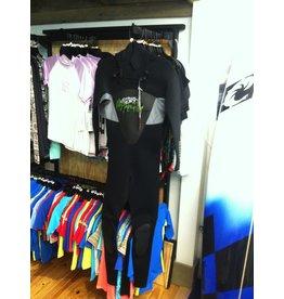 Hyperflex Hyperflex Amp 3/2 Full Front Zip Wetsuit Black Size XS