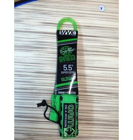 On a Mission OAM 5.5' Super Comp Torry Meister Lime Glow Surfboard Leash