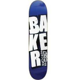 Skate Baker Stacked Blue 8.25