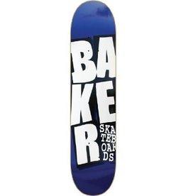 Skate Baker Stacked Blue 8.25