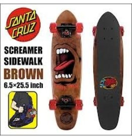 Skate Santa Cruz  Sidewalk Screamer  Brown 6.4 x 25.3