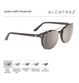Spy Optic ALCATRAZ BLACK - HAPPY BRONZE POLAR w/ BLACK MIRROR