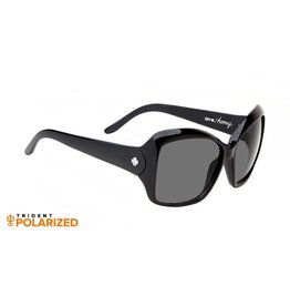 Spy Optic Spy Honey Sunglasses Black Frame Grey Polarized Lens New 673035038135