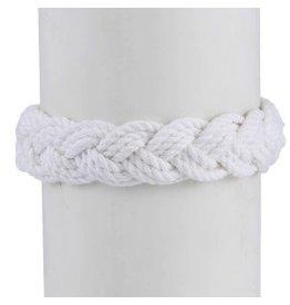 World End Imports White Cotton Sailor Surfer Knot Bracelet Jewelry