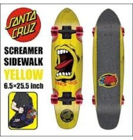 Skate Santa Cruz Sidewalk Screamer Yellow  6.4 x 25.3