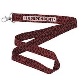 Skate FN Lanyard Key Chain Red OS Unisex Independent