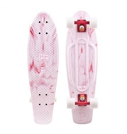 Skate Penny Skateboard Nickel Marble White/Red Complete