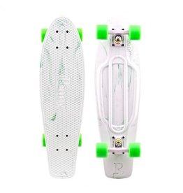 Skate Penny Skateboard Nickel Marble White/Green Complete