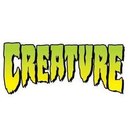 Skate Logo Decal 2 in 4 in Clear Mylar pk/25 Green Creature