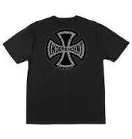 Skate Independent Finish Line Pocket T-Shirt Black Lg Mens