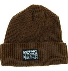 Skate Creature Support Long Shoreman Beanie Brown
