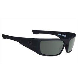 Spy Optic Spy Dirk Soft Matte Black Happy Grey Green Sunglasses