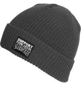 Skate Creature Support Long Shoreman Beanie Charcoal