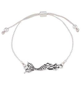 World End Imports Mermaid Slide Bracelet Silver Jewelry
