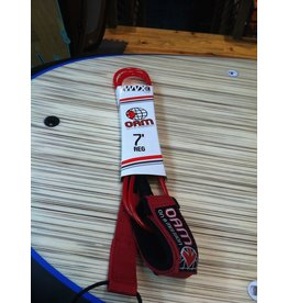On a Mission OAM 7' Regular Red Surfboard Leash