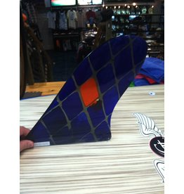 "RDI RFC Rainbow Longboard Fin Quintal Blue 10"" Stained Glass"