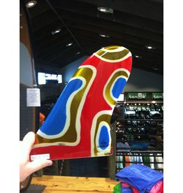 "RDI RFC Rainbow Longboard Fin Quintal Red 10"" Stained Glass"