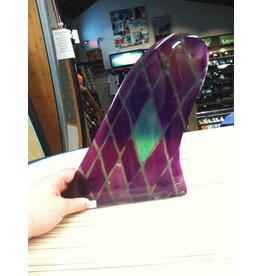 "RDI RFC Rainbow Longboard Fin Quintal Purple 10"" Stained Glass"