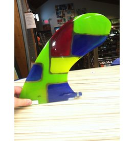 "RDI RFC Rainbow Longboard Fin EL Gato Multi Green 9.5"" Stained Glass"