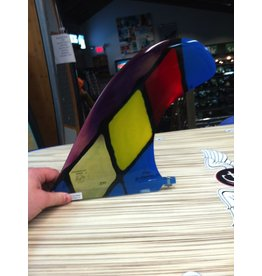 "RDI RFC Rainbow Longboard Fin GS Nose G. Spencer Multi Black 9.5"" Stained Glass"