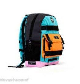 Skate Penny Backpack Pastel Cyan/Orange/Pink