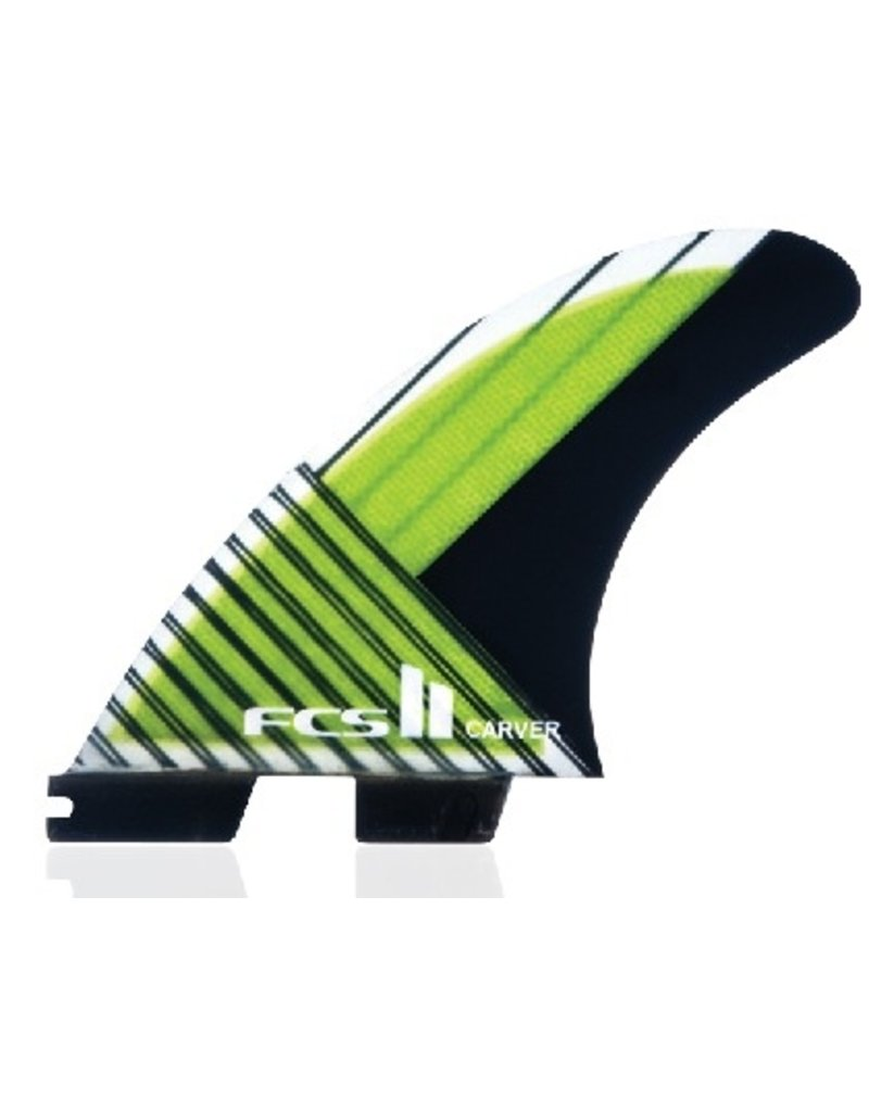 FCS FCS II Carver PC Carbon Tri Set Large Thrusters Surfboard Fins